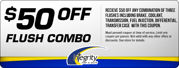 $50 off any combination of 3 flushes