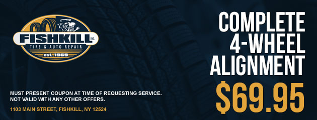 Complete 4-Wheel Alignment $69.95