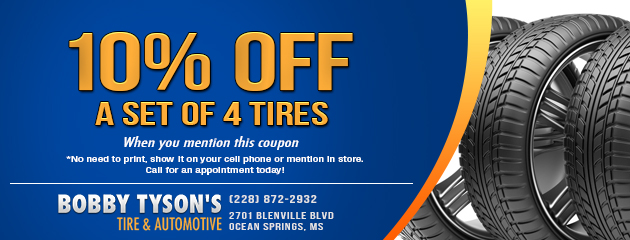 10% Off a Set of 4 Tires