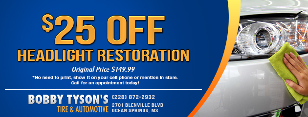 $25.00 off Headlight Restoration Coupon