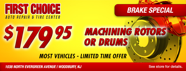 Brake Special - Machining rotors or drums $179.95