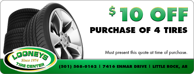 $10 Off Purchase of 4 Tires
