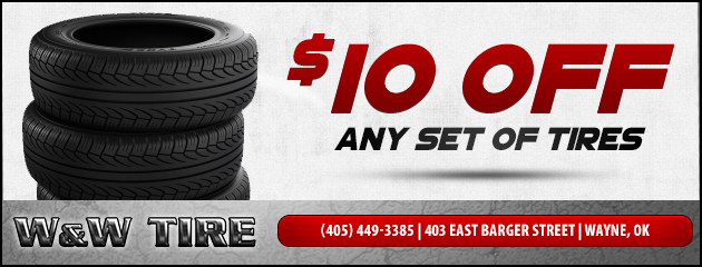 $10 OFF Any Set of 4 Tires