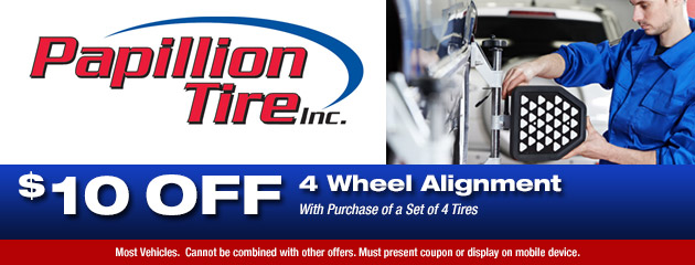 $10 Off 4 Wheel Alignment Special