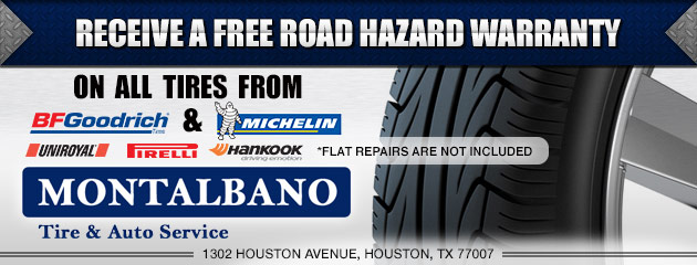 Free Road Hazard On BFGoodrich & Michelin