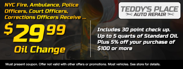 Officers Oil Change Coupon