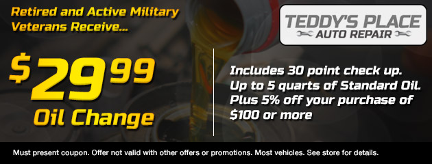 Military Oil Change Coupon