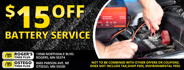 $15 Off Battery Service