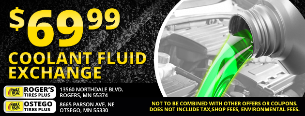 $69.99 Coolant Fluid Exchange