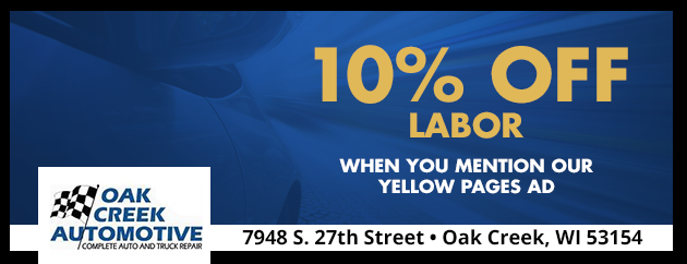10% Off Labor when you mention our Yellow Pages Ad