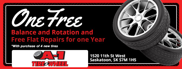 1 Free Balance and Rotation and Free Flat Repairs for one Year