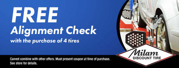 Free Alignment Check with Tire Purchase Coupon