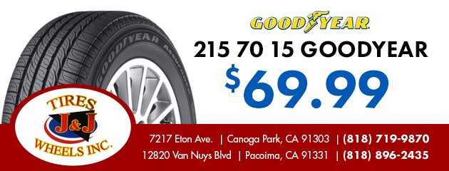 215 70 15 Goodyear $69.99  Coupon