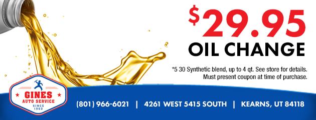 $29.95 Oil Change Coupon