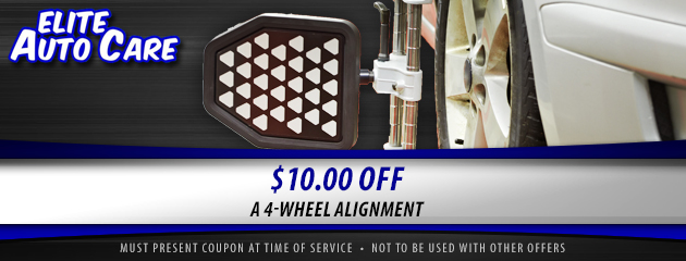 $10 Off 4 Wheel Alignment Coupon