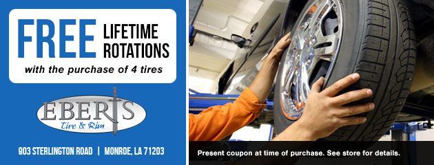 Free Lifetime Rotations with Purchase of 4 Tires Coupon