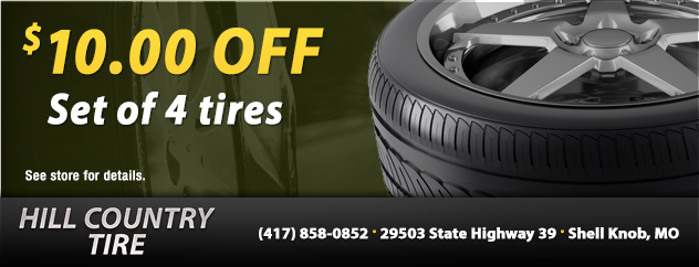 $10 Off Set of 4 Tires