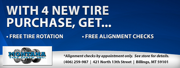 Free with purchase of 4 New Tires