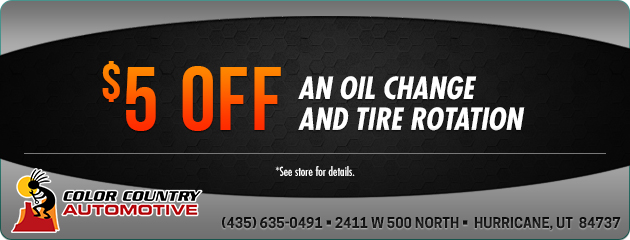$5 off an Oil Change & Tire Rotation