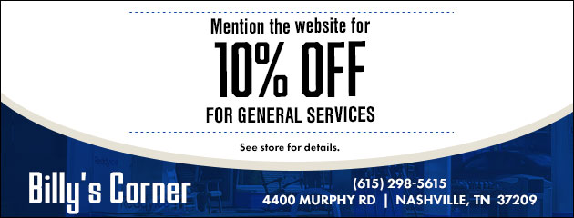 Mention the website for 10% off for general services