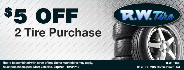$5 Off Tire Purchase