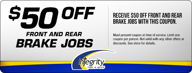 $50 Off Front and Rear Brake Jobs