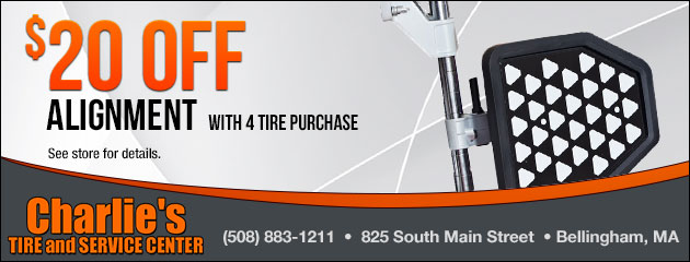 $20.00 Off Alignment with Tire Purchase