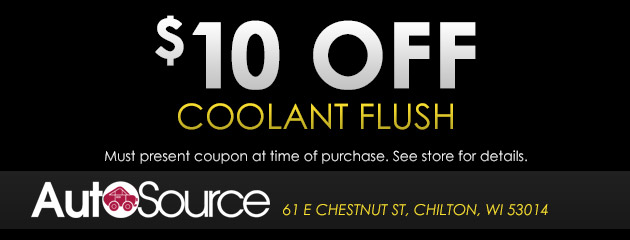 $10 Off Coolant Flush Special