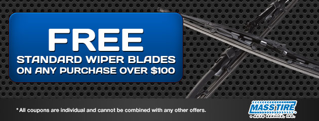 Free Standard Wiper Blades on any purchase over $100