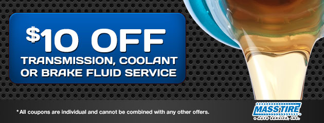 $10 Off Transmission, Coolant or Brake Fluid Service