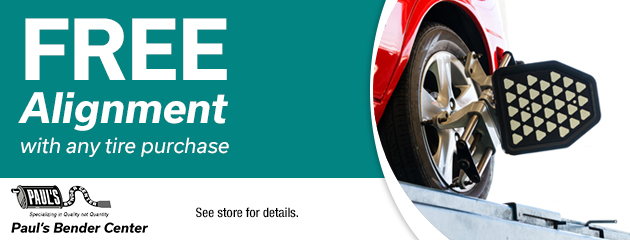Free Alignment with any tire purchase