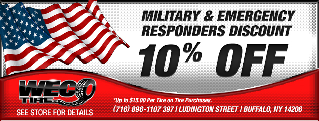 Military & Emergency Responders Discount