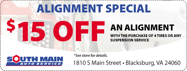 $15 Off Alignment Special