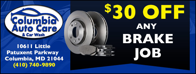 $30.00 Off Any Brake Job