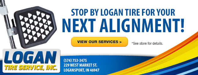 Stop by Logan Tire for your next Alignment