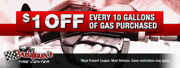 $1 Off Every 10 Gallons of Gas Purchased