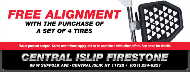 Free Alignment with any set of 4 Tires