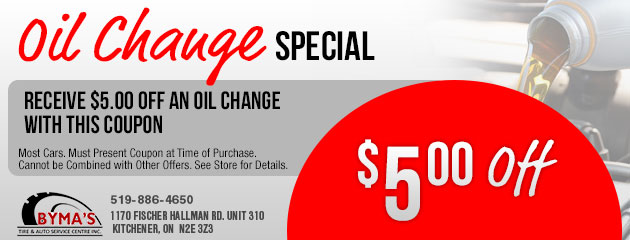 $5.00 Off an Oil Change Special