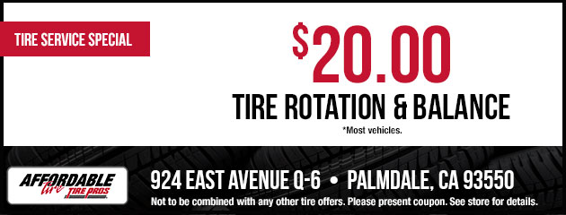 $20.00 Tire Rotation and Balance Coupon
