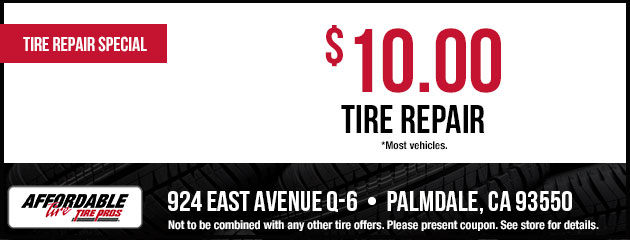$10.00 Tire Repair Coupon