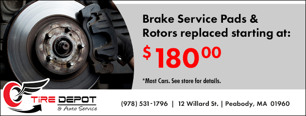 Brake Service Pads & Rotors replaced starting at $180