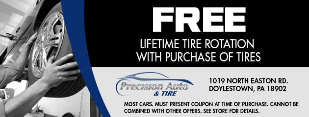 Free Lifetime Tire Rotation with Purchace of Tires