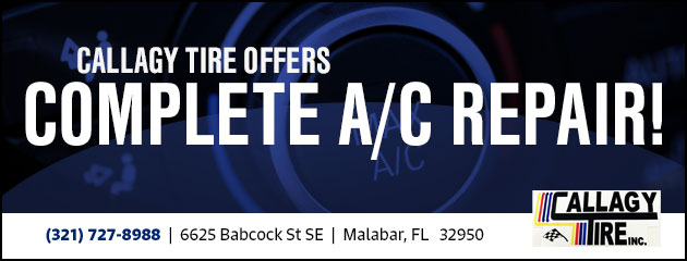 Callagy Tire offers Complete A/C Repair