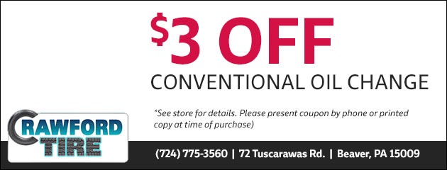 $3.00 Off Conventional Oil Change Special