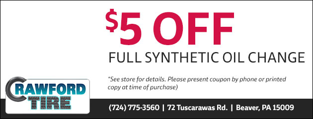 $5.00 Off Full Synthetic Oil Change Special