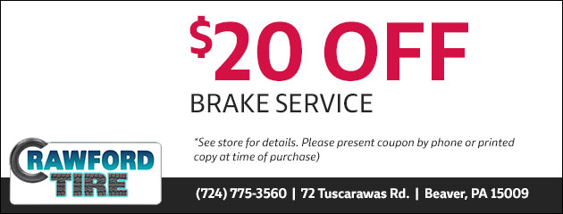 $20.00 Off Brake Service Special