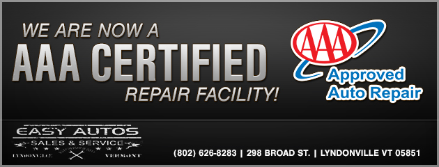 We are now a AAA Certified Repair Facility!