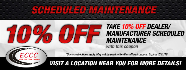 10% Off Dealer/Manufacturer Scheduled Maintenance