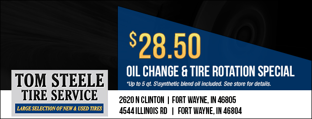 Oil Change and Tire Rotation Special - $28.50
