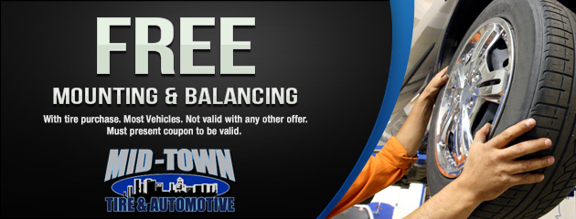 Free Mounting & Balancing with tire purchase